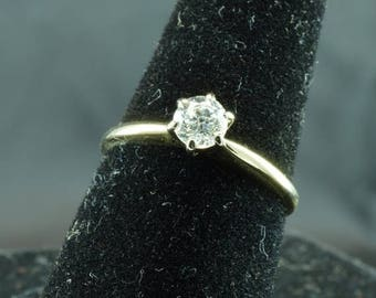 ON SALE Gorgeous .45 ct Diamond Solitaire Ring ~ I-J Color, I1 Clarity ~ Size 7.75