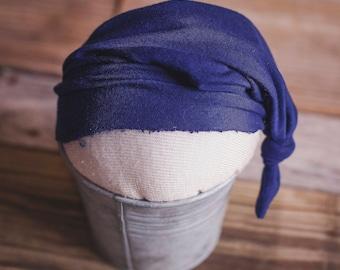 navy newborn sleepy hat - photography prop