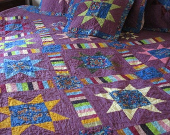 King Sized Quilt, King Quilt, King Quilt w-Shams, Quilt