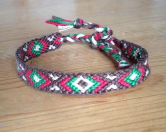 Aztec bracelet / Friendship Bracelet / Bracelet Brazilian / embroidered, woven and hand made