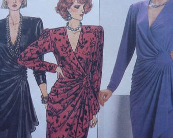 Misses Straight Wrap Dress Sewing Pattern Butterick 6951 Rimini Size 16