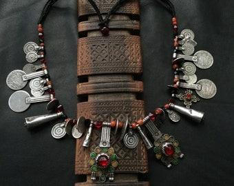 BERBER NECKLACE,Berber silver,ethnic jewelry,African necklace,African jewelry,Berber coin necklace,