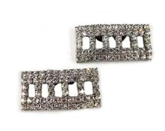 Vintage Crystal Shoe Clips