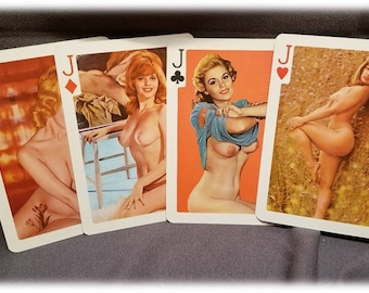 Burlesque ~ Poker Cards ~ L@@K! ~ Set of Cards by Esquire ~ Large size ~ Pin Up ~ Nudie ~ Frame ~ Art ~ L@@K!!!!