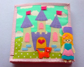 Quiet book, felt book, dollhouse busy book, book for girl (8 pages)
