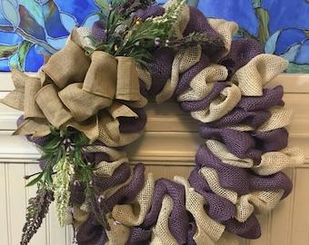 Burlap everyday wreath