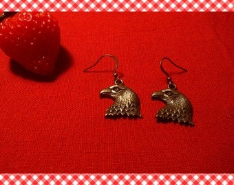 A very nice pair of earrings with Eagle bronze