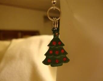 christmas earrings, christmas tree earrings, christmas decor, christmas gift idea, secret santa gift idea, christmas items, christmas, (265)