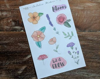 Sticker collection - Flowers Watercolor