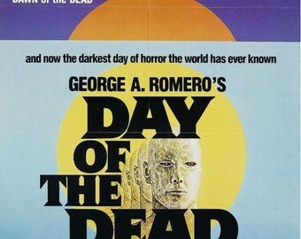 Back to School Sale: DAY Of THE DEAD Movie Poster Horror Zombies George Romero