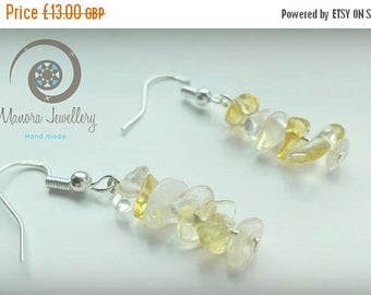 Summer sale citrine dangle earrings, natural gemstone earrings, sterling silver,Anniversary Birthday Wedding Gift