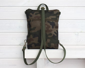 Camo Waterproof Backpack, Military Vegan Rucksack, Army Functional Bag