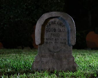 Haunted Mansion Inspired Tombstone - Dear Old Fred