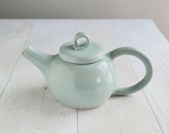 Handmade Teapot - Duck Egg Blue - Stoneware Teapot - Ready to Ship - FREE UK SHIPPING