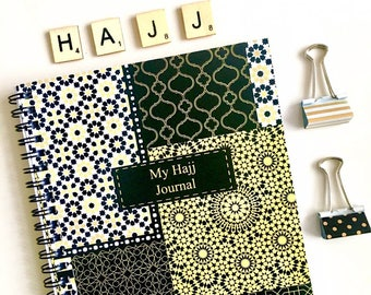 My Hajj Journal, A5 Hajj Notebook Zellige, Eid al Adha  Gift Islamic Book