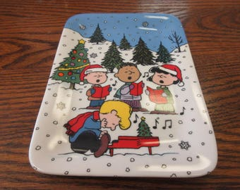 Vintage Christmas with Charlie Brown - Danbury Mint Plate #1