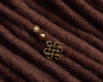Celtic knot dread bead Hair jewely wicca Hair beads Hair cuff celtic dreadlock bead