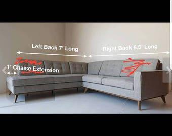 Custom sectional chaise