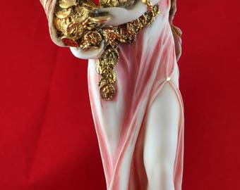 Fortuna Tyche Greek Goddess of Luck, Fate, and Fortune  Statue colour Big Size 11,5 inch