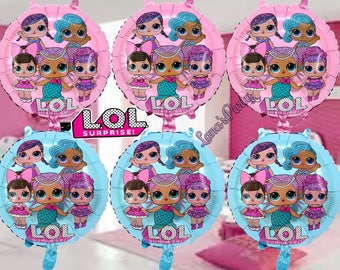 """NEW 18"""" Shiny PINK BLUe LOL Surprise Doll Birthday Balloons girls Party Foil"""
