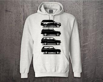 Range Rover hoodie, Cars hoodies, Defender hoodies, Land Rover evolution hoodie, SUV hoodies, range hoodies, Cars t shirts, Unisex Hoodies