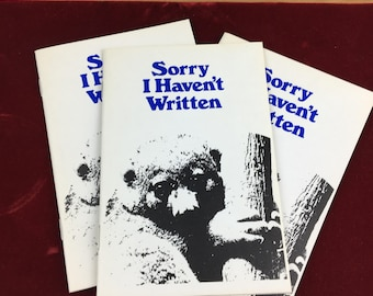 1979 vintage SORRY I HAVEN'T WRITTEN Greeting card poem book  Dennis Green Sugar Free Collection
