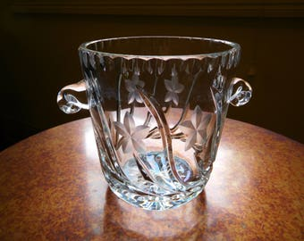 Leaded Crystal ice bucket - wine cooler - champagne bucket. Vintage.
