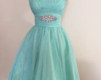 Aqua prom or bridesmaid dress