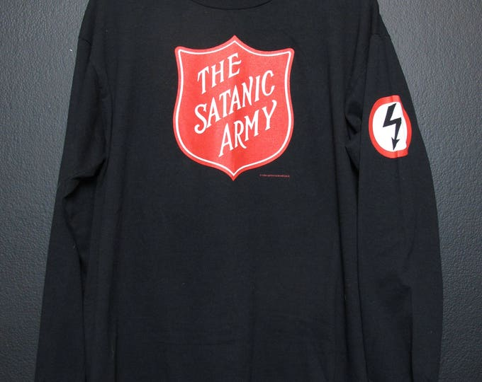 Marilyn Manson Satanic Army 1994 Vintage Longsleeve