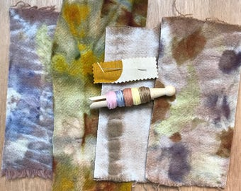 Eco Dyed Wool Slow Stitching Pack 2