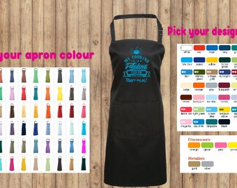 Funny custom apron. Ideal gift idea available in 40 colours!!