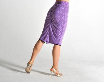 CLARA reversible! black and purple slit skirt - sizes S and M