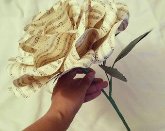 Giant Music Sheet Paper Rose Bouquet