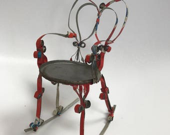 Vintage 1970's Rocking Chair Made from a Vintage Pepsi Can Folk Art