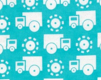 Moda GROW WITH ME Quilt Fabric 1/2 Yard By Deb Strain - Sky Blue Trucks 19533 13