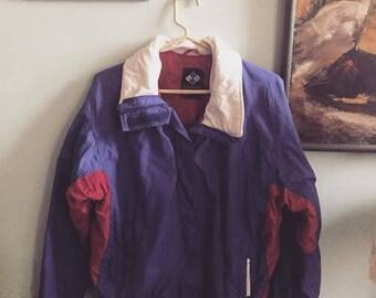 SALE Vintage 80s 90s Columbia purple pink parka womens med large ski jacket