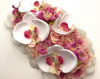Handmade Special Edition Tropical Orchid & Blossom Hair Flower One Only