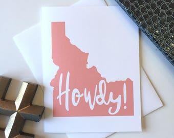 Idaho Gifts, Idaho Greeting Card, Idaho Map, Idaho Art, Idaho Love, Greetings from Idaho, Idaho Note Cards, Made in Idaho, Idaho Home Decor