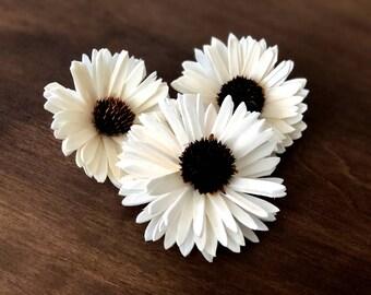 Wood Sola Daisy Flower