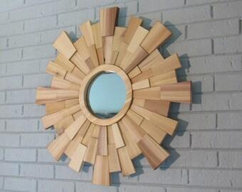 Sunburst Mirror- wood wall art