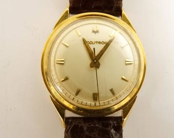 18 K Gold Mens Bulova Accutron Pre owned Tuning Fork Movement
