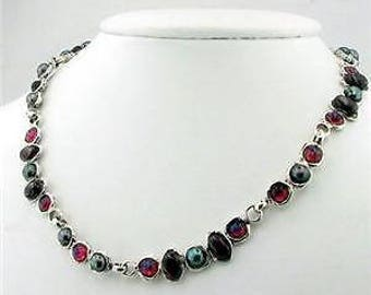 Duerry's Unique Handmade Sterling Silver Multi Gemstone Necklace