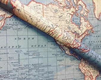 Vintage Map Gift Wrap