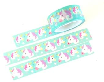Pastel unicorn washi tape