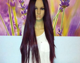 Wine Red Wig Etsy