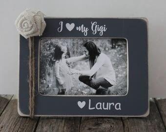 Gigi Picture Frame, Grandma Gift, Grandmother, Personalized Frame, Yaya, Nanny, Nana