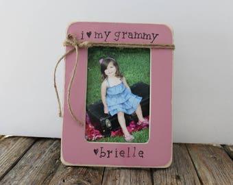 Grammy Picture Frame, Gift For Grandma, Nana, Gigi, Grams Frame, Christmas Gift for Grammy
