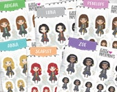 Yes I'm A Wizard - Exclusive Luna and Friends Series - GIRLS - Decorative Planner Sticker Sheet