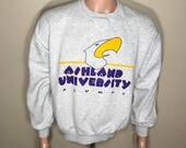 Ashland University College sweatshirt // vintage crewneck sweatshirt // adult size large // college university alumni //