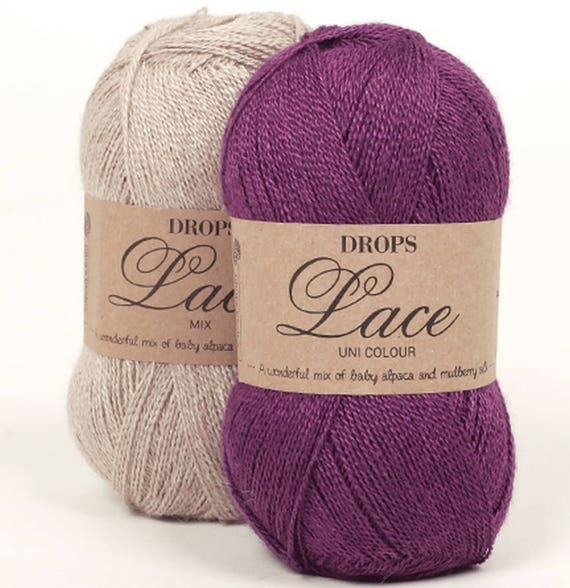 DROPS Yarn Lace A Wonderful Mix Of Baby Alpaca And